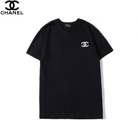 ブランド国内シャネル CHANEL メンズ/レディース 2色 クルーネック Tシャツ カップル 綿 2020年新作コピーブランド激安販売専門店