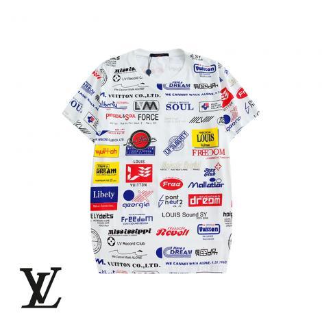 ブランド通販ルイヴィトン LOUIS VUITTON メンズ/レディース 2色 クルーネック Tシャツ 綿 良品スーパーコピー激安販売