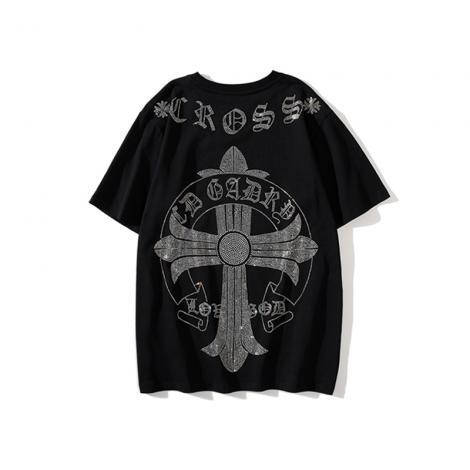 クロムハーツ Chrome Hearts メンズ/レディース カップル 2色 クルーネック Tシャツ 綿 新作スーパーコピーブランド代引き