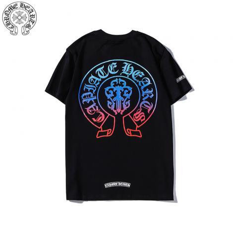 クロムハーツ Chrome Hearts メンズ/レディース 2色 クルーネック Tシャツ 綿 カップル 高評価レプリカ口コミ販売