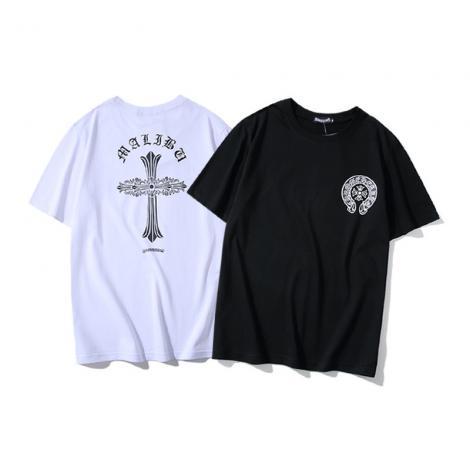 ブランド国内クロムハーツ Chrome Hearts メンズ/レディース カップル 2色 クルーネック Tシャツ 綿 送料無料最高品質コピー
