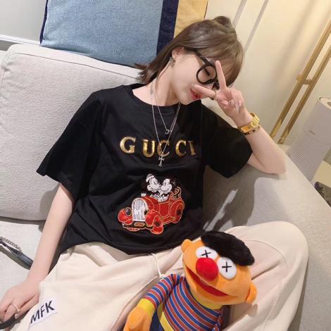 グッチ GUCCI メンズ/レディース カップル 2色 クルーネック Tシャツ 綿 2020年春夏新作ブランドコピー専門店