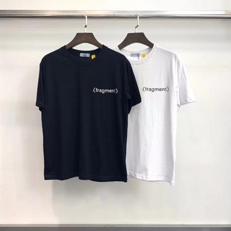 ブランド販売モンクレール MONCLER メンズ/レディース クルーネック 2色 Tシャツ 綿 カップル  高評価レプリカ 代引き