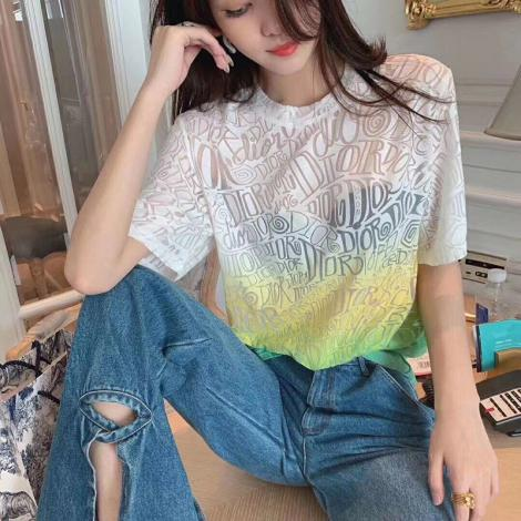 ブランド後払いディオール Dior メンズ/レディース クルーネック Tシャツ カップル 2020年春夏新作スーパーコピーブランド代引き