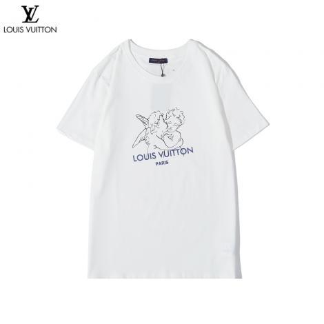 ブランド後払いルイヴィトン LOUIS VUITTON メンズ/レディース 2色 クルーネック 綿 Tシャツ 新作スーパーコピー国内発送専門店