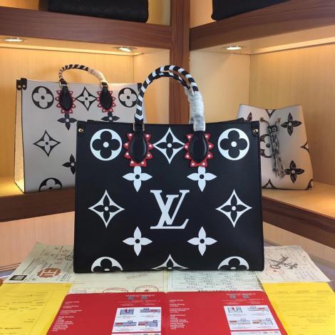 ルイヴィトン LOUIS VUITTON トートバッグ ショルダーバッグ ショッピング袋 2色 新作 人気スーパーコピーブランドバッグ激安国内発送販売専門店