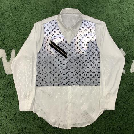 ルイヴィトン LOUIS VUITTON メンズ/レディース カップル 2色 長袖 シャツ 美品最高品質コピー