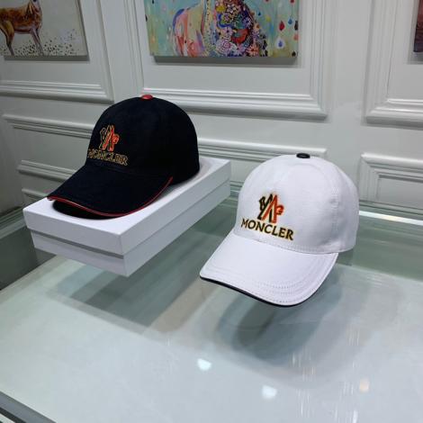 モンクレール MONCLER メンズ/レディース 牛革 キャンバス キャスケット帽  定番人気  2色コピーブランド代引き