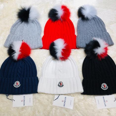 モンクレール MONCLER レディース 6色 ビーニー  ニット帽 毛糸の帽子 冬物 冬 暖かい 送料無料 美しいブランド通販