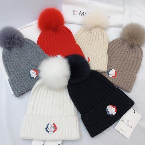 モンクレール MONCLER レディース 6色 暖 毛糸 ニット帽 ビーニー  高評価  美しいブランドコピー代引き可能