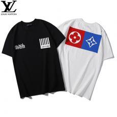 ルイヴィトン LOUIS VUITTON メンズ/レディース 2色 クルーネック Tシャツ カップル  高評価ブランドコピー専門店