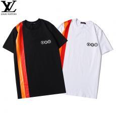 ブランド安全ルイヴィトン LOUIS VUITTON メンズ/レディース 2色 クルーネック Tシャツ カップル おすすめレプリカ販売