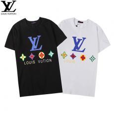 ルイヴィトン LOUIS VUITTON メンズ/レディース 2色 カップル クルーネック Tシャツ 新作レプリカ口コミ販売