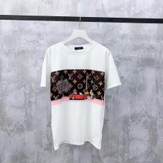 ルイヴィトン LOUIS VUITTON メンズ/レディース カップル クルーネック Tシャツ 人気コピーブランド代引き