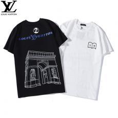 ルイヴィトン LOUIS VUITTON メンズ/レディース 2色 クルーネック Tシャツ カップル 定番人気激安代引き口コミ