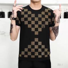 ルイヴィトン LOUIS VUITTON 3色 クルーネック Tシャツ カップル 新作コピー 販売