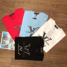 ルイヴィトン LOUIS VUITTON メンズ/レディース 4色 クルーネック Tシャツ 高評価スーパーコピー通販