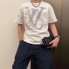 ルイヴィトン LOUIS VUITTON メンズ/レディース  3色 クルーネック Tシャツ カップル 新入荷偽物販売口コミ