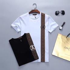 ルイヴィトン LOUIS VUITTON メンズ/レディース 2色 クルーネック Tシャツ 新品同様最高品質コピー