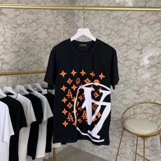 ルイヴィトン LOUIS VUITTON メンズ/レディース 2色 クルーネック Tシャツ カップル 美品スーパーコピー通販