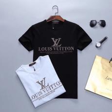 ルイヴィトン LOUIS VUITTON メンズ/レディース 2色 クルーネック Tシャツ 高評価スーパーコピーブランド代引き
