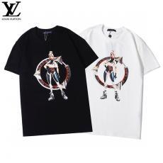 ブランド可能ルイヴィトン LOUIS VUITTON メンズ/レディース 2色 クルーネック Tシャツ カップル 2020年春夏新作コピーブランド激安販売専門店