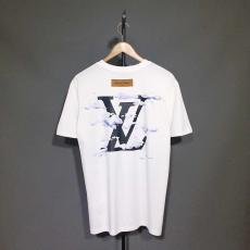 ルイヴィトン LOUIS VUITTON メンズ/レディース 2色 クルーネック Tシャツ 綿 カップル 2020年春夏新作口コミ激安代引き