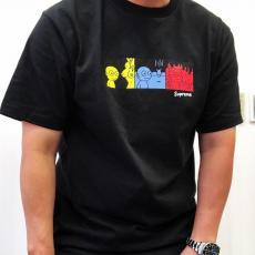 シュプリーム Supreme メンズ/レディース 2色 クルーネック Tシャツ カップル 綿 人気ブランドコピー安全後払い専門店