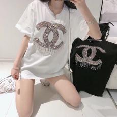 シャネル CHANEL メンズ/レディース 2色 クルーネック Tシャツ カップル 新品同様激安販売専門店