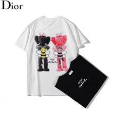 ブランド可能ディオール Dior メンズ/レディース 2色 クルーネック Tシャツ 綿 カップル 高評価スーパーコピーブランド
