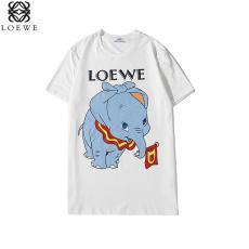 ロエベ LOEWE メンズ/レディース 2色 クルーネック Tシャツ 綿 カップル 2020年春夏新作激安販売専門店