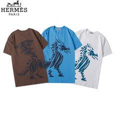 エルメス  HERMES 3色 クルーネック Tシャツ 綿 カップル  新品同様レプリカ販売