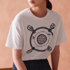 エルメス  HERMES メンズ/レディース 2色 クルーネック Tシャツ 綿 カップル おすすめスーパーコピーブランド