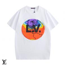 ルイヴィトン LOUIS VUITTON メンズ/レディース 2色 クルーネック Tシャツ 綿 カップル 2020年春夏新作レプリカ激安代引き対応