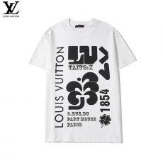 ブランド販売ルイヴィトン LOUIS VUITTON メンズ/レディース 2色 クルーネック Tシャツ 綿 おすすめレプリカ販売