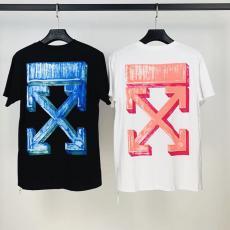 オフホワイト Off White メンズ/レディース 2色 クルーネック Tシャツ 綿 大き目 カップル 送料無料最高品質コピー代引き対応