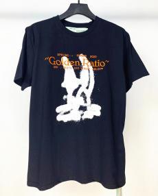 ブランド国内オフホワイト Off White  メンズ/レディース クルーネック Tシャツ 綿 カップル 2020年春夏新作激安販売専門店