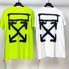 オフホワイト Off White メンズ/レディース 2色 クルーネック Tシャツ 綿 新入荷ブランドコピー激安販売専門店