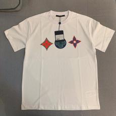 ルイヴィトン LOUIS VUITTON メンズ/レディース クルーネック Tシャツ 綿 新入荷コピー 販売