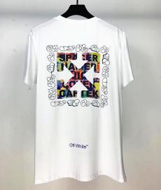 オフホワイト Off White メンズ/レディース 2色 クルーネック Tシャツ 綿 カップル 2020年春夏新作コピー代引き口コミ