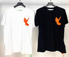 ブランド販売オフホワイト Off White メンズ/レディース クルーネック Tシャツ 綿 カップル 2色 送料無料ブランドコピー専門店
