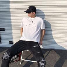 イヴ・サンローラン YSL メンズ/レディース カップル 2色 クルーネック Tシャツ 綿 人気レプリカ販売