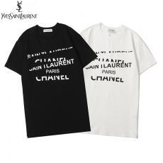 ブランド後払いイヴ・サンローラン YSL メンズ/レディース 2色 クルーネック Tシャツ 綿 良品スーパーコピー激安販売専門店