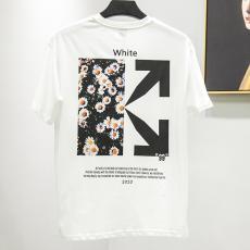 オフホワイト Off White メンズ/レディース 2色 クルーネック Tシャツ 綿 カップル 2020年春夏新作ブランドコピー国内発送専門店