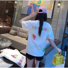 クロムハーツ Chrome Hearts メンズ/レディース カップル クルーネック Tシャツ 綿 2色 2020年新作コピー代引き