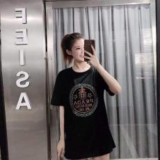 プラダ PRADA 2色 クルーネック Tシャツ 綿 新作スーパーコピーブランド代引き