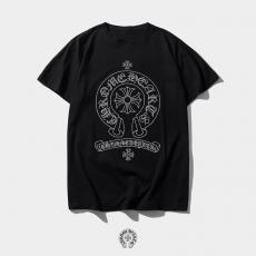ブランド販売クロムハーツ Chrome Hearts メンズ/レディース クルーネック Tシャツ 綿 カップル  人気偽物代引き対応