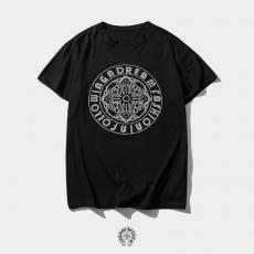 クロムハーツ Chrome Hearts メンズ/レディース クルーネック Tシャツ 綿 カップル おすすめ激安販売専門店