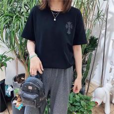 クロムハーツ Chrome Hearts  メンズ/レディース 2色 クルーネック Tシャツ 綿 カップル 新品同様ブランド通販口コミ