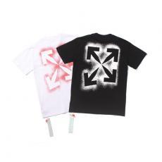 ブランド安全オフホワイト Off White メンズ/レディース カップル 大き目 2色 クルーネック Tシャツ 綿 2020年新作スーパーコピー激安販売